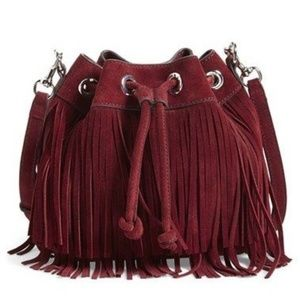Rebecca Minkoff Fringe Fiona Bucket Crossbody Bag
